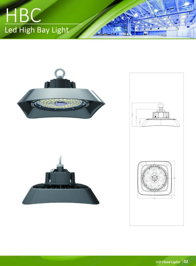 Super Bright Industrial High Bay LED Lighting Garage Warehouse Lamp Fixture IP65