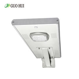 China 80 Watt 13600Lm Pole Mounted Street Lights All In One 12V 50ah Lithium Battery supplier